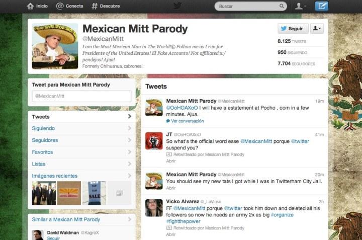 Mexican Mitt Parody (MexicanMitt) en Twitter