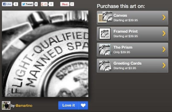 opciones de venta en instacanvas instagram