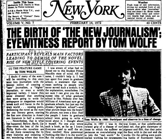 Tom Wolfe El nuevo periodismo