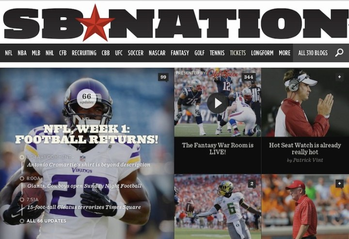 SB Nation home