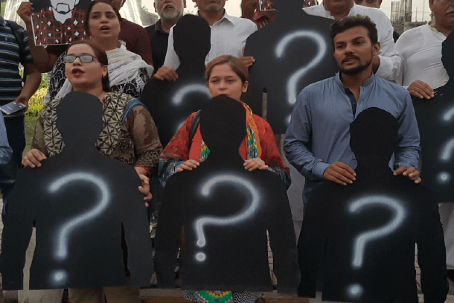Protest over enforced disappearances in Pakistan
