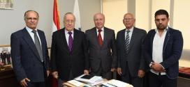 نقيب المحررين استقبل وفدا اعلاميا فلسطينيا