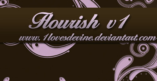 flourish brush photoshop