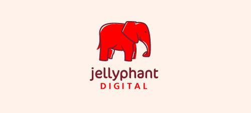 jellyphant logo design