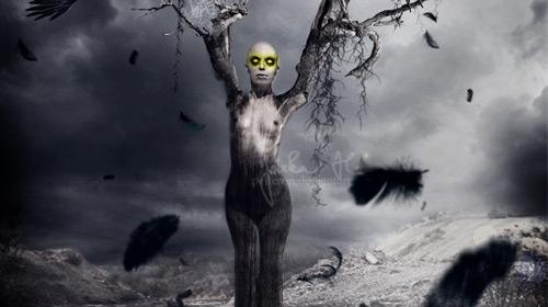 horror photo manipulation