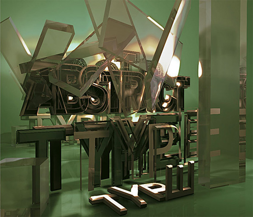 3d Typography Designs - Abstract Type