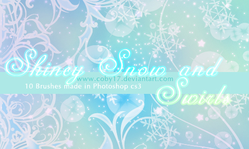 Christmas Brushes for Photoshop - Shiney Snow and Swirls