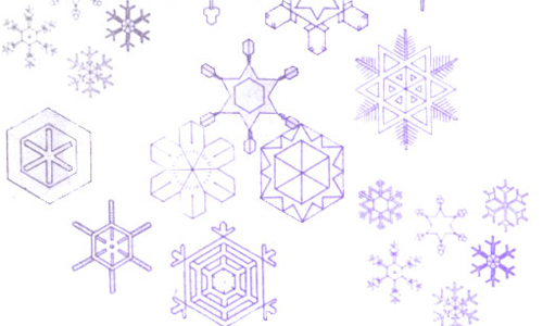 Christmas Brushes for Photoshop - Snowflake Brushes 3