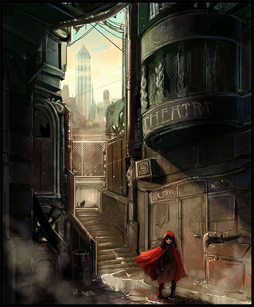digital-painting-08-red-riding-hood