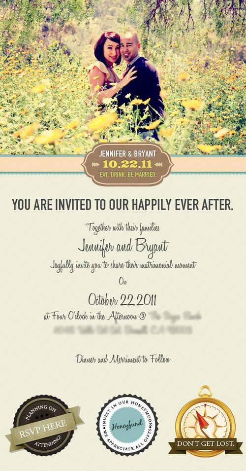 50 stunning wedding invitations ucreativecom With creative electronic wedding invitations