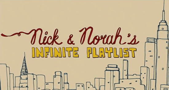 nick and norah's infinite playlist typography
