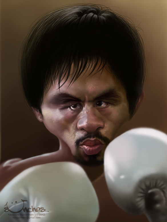 "Manny ""Pacman"" Pacquiao - Caricature by Alex Novoseltsev"