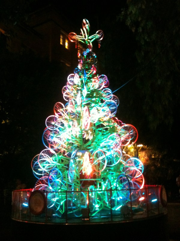 bicycle wheels Christmas Tree via You The Designer