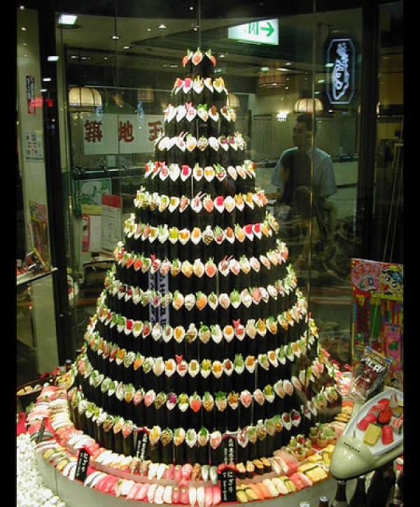 Sushi Christmas Tree via You The Designer