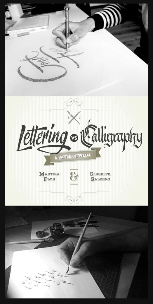 Lettering vs. Calligraphy