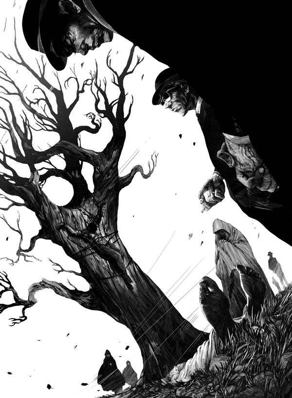 Ink Drawing by Nicolas Delort via YouTheDesinger