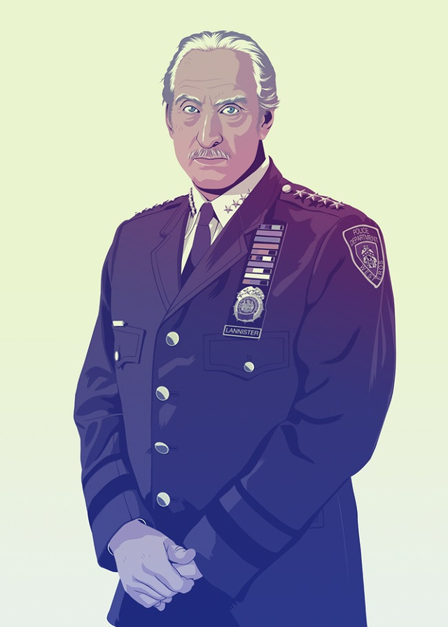 Tywin Lannister | Illustration by Mike Wrobel