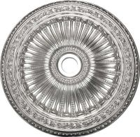 Black And Silver Ceiling Medallion  Shelly Lighting