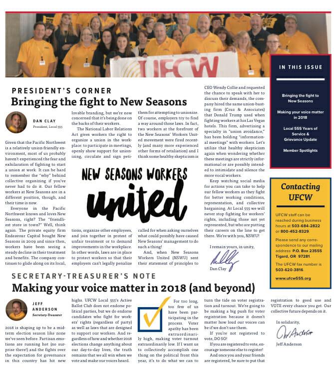 February 2018 NWLP 555 Leader - UFCW Local 555