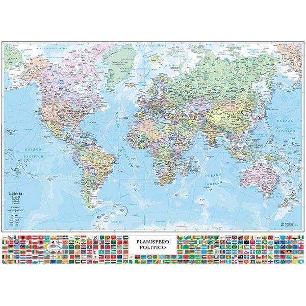 Carta geografica Mondo Belletti - M14PP/07 - Conf 1 Pz