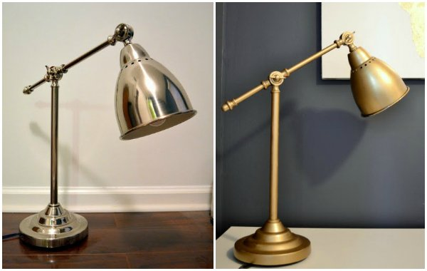 ikea hack - gold desk lamp