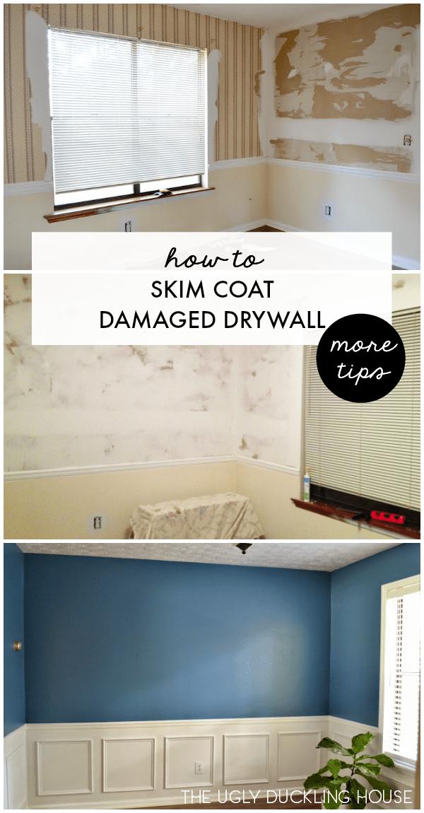 skim coat damaged drywall more tips