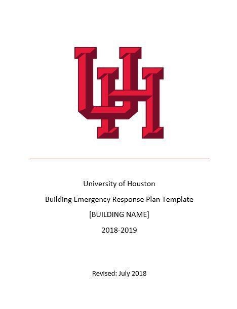 UH Emergency Response Plan Template - University of Houston
