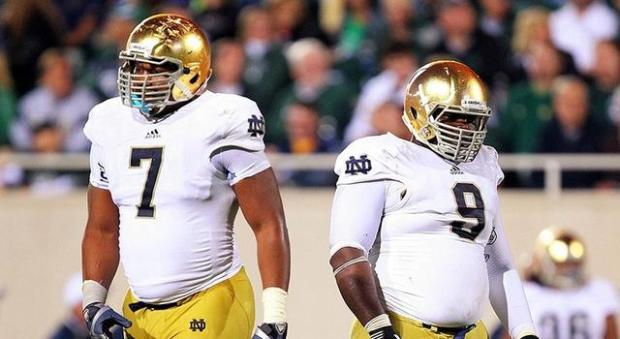 Notre Dame Football - Stephon Tuitt and Louis Nix III