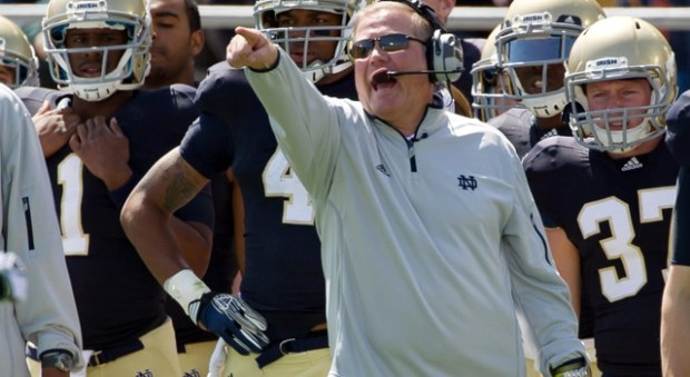 Brian Kelly - Blue and Gold Game
