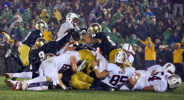 Notre Dame goalline stand vs. Stanford 2012