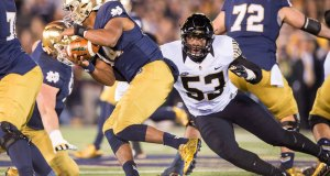 Mike Elko's Wake Forest defense bottled up the Irish offense a year ago. (© Matt Cashore // USA TODAY Sports)