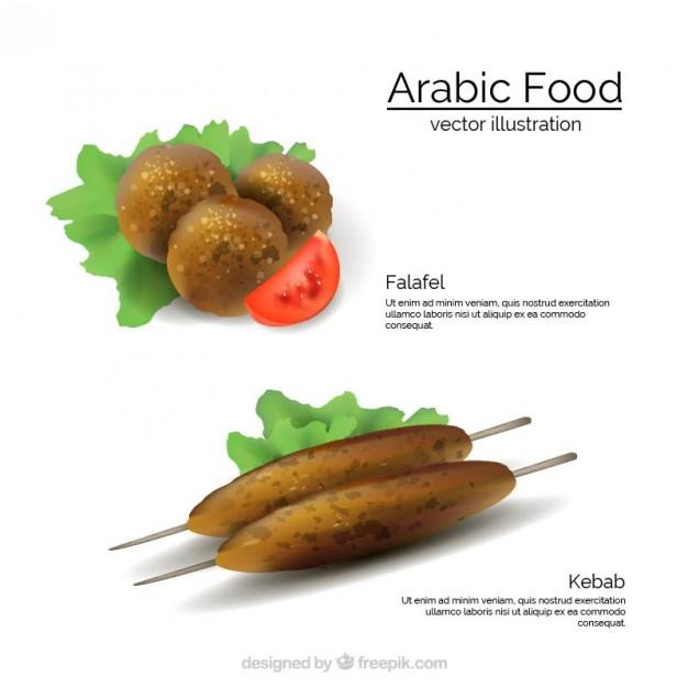 Arabic Food Menu Template free vectors UI Download