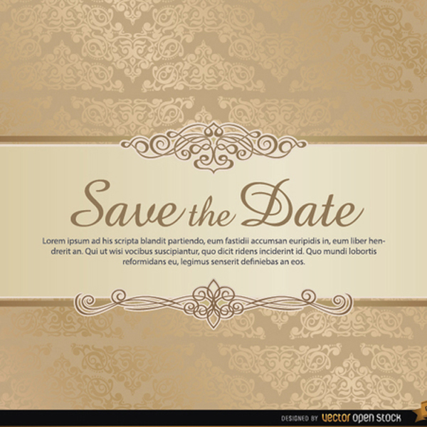 Save the date template colbro damask save the date vector template free vectors ui download maxwellsz