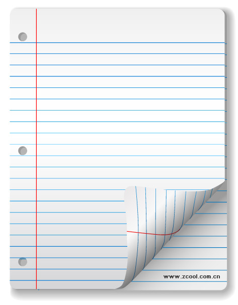 Vector blank notebook paper material free vectors UI Download - notebook paper download