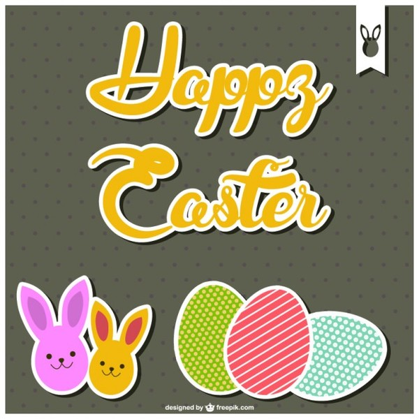 Happy Easter Card Template Free Vector free vectors UI Download