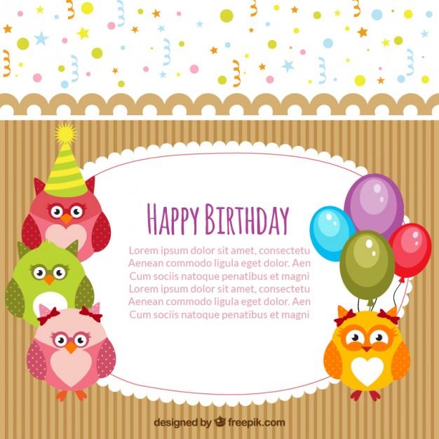 Happy birthday card template free vectors UI Download