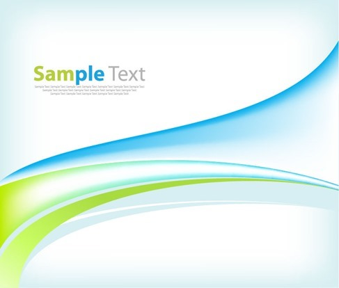 Blue Green Waves Abstract Background free vectors UI Download
