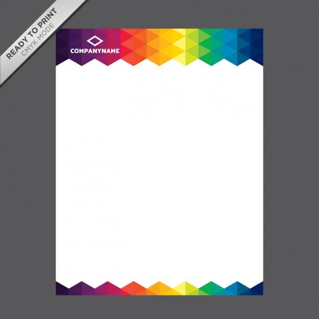 Coloured letterhead template free vectors UI Download - letterheads templates free download
