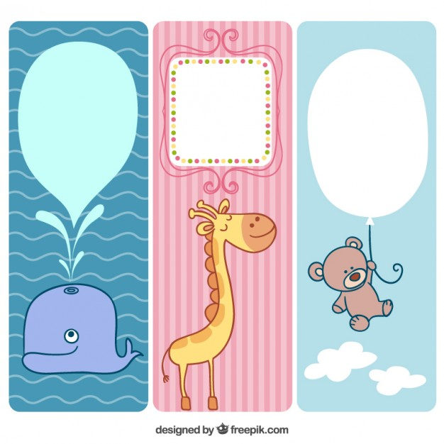 Cute animals banners for baby free vectors UI Download