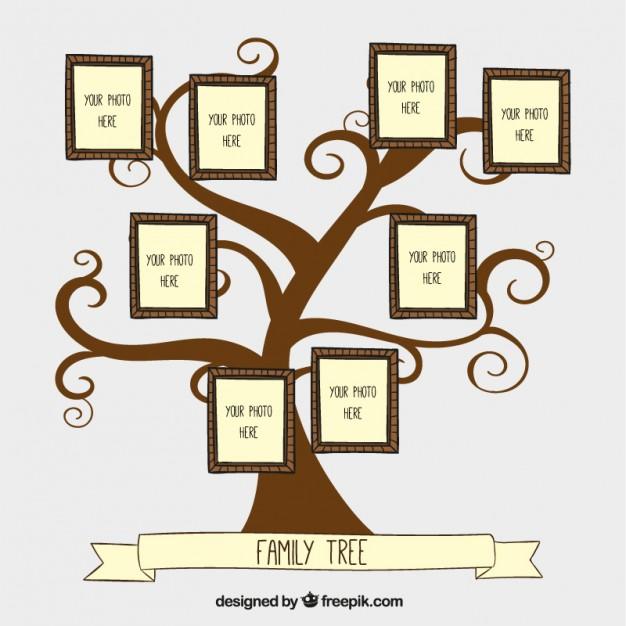 Hand drawn family tree free vectors UI Download