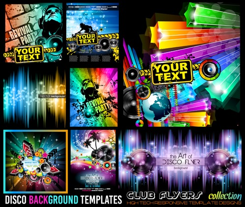 Club flyers template vector 04 free vectors UI Download