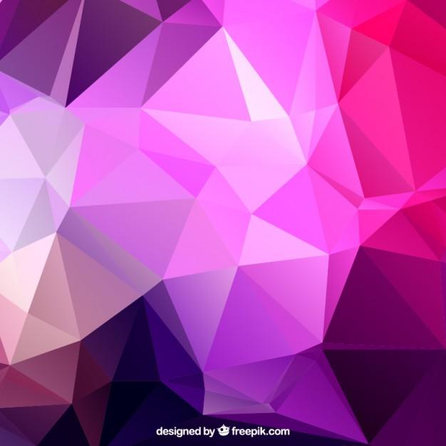 Wallpaper Teknologi 3d Purple Polygons Background Free Vectors Ui Download