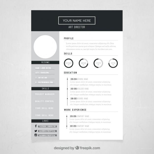 Art director resume template free vectors UI Download