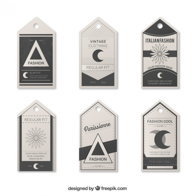 Vintage Label Tags Template Free Vector free vectors UI Download