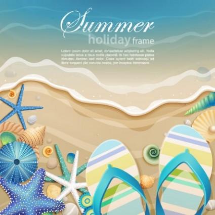 Beautiful ocean background cartoon 01 vector free vectors UI