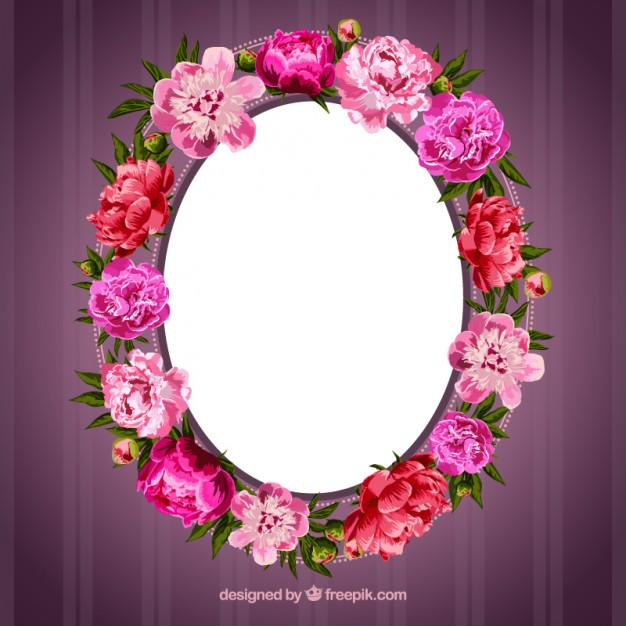 Beautiful Fall Location Wallpapers Frame Made Of Flowers Free Vectors Ui Download