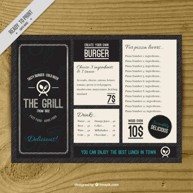 free drink menu template - Blackdgfitness - Free Drink Menu Template