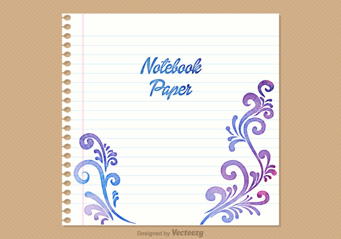 Free Notebook Paper Vector Background free vectors UI Download - notebook paper download