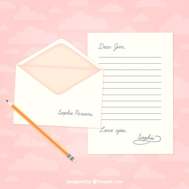 Love letter template free vectors UI Download