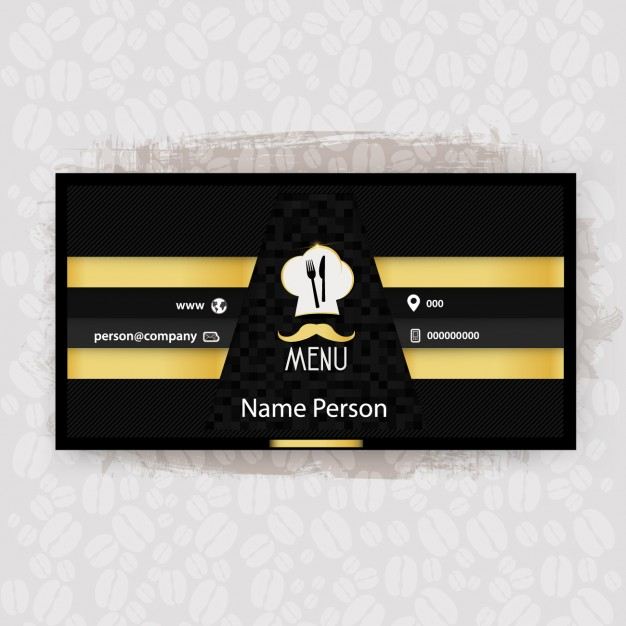 Black and yellow restaurant business card free vectors UI Download